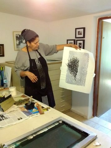 workshop 27   the printing - screen print on canvas