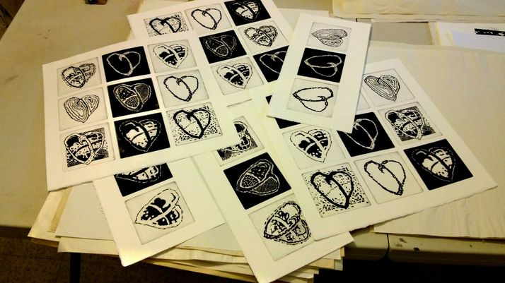 workshop 18 prints- from the small engraving plates