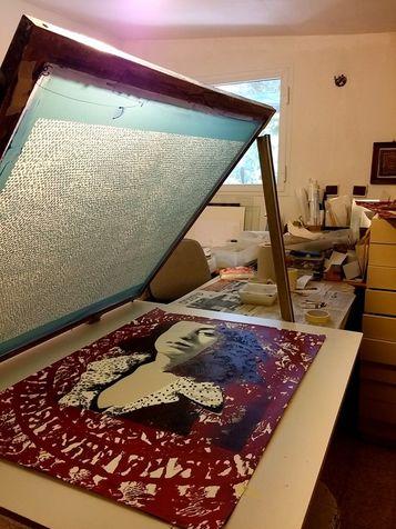 workshop 31 screen print on paper 70*100 cm