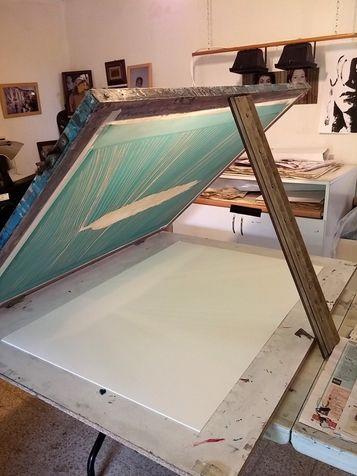 workshop 35 grid befor printing on paper in size 70*100 cm