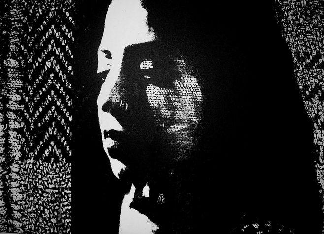miriam 2 screen print on paper, 2005, 70*100 cm