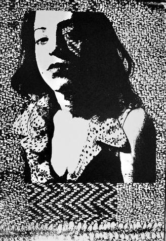 miriam 21 screen print on paper, 2005, 70*100 cm