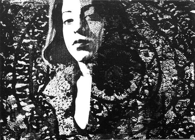 miriam 24 screen print on canvas, 2005, 70*100 cm