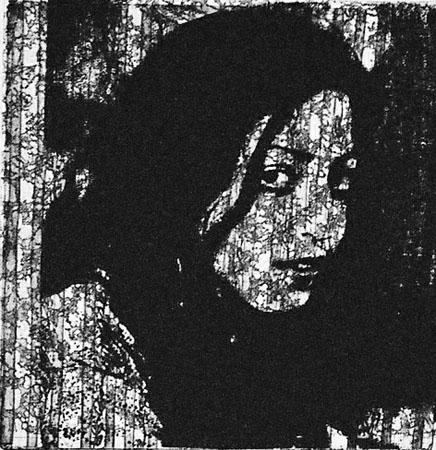 miriam 33 photo-etching & aquatint, 2004, 20*20 cm