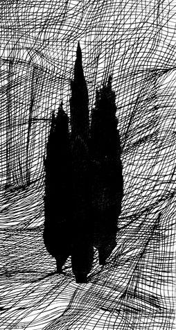 cypess 4 screen print on canvas, 2005, 80*147 cm