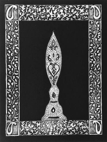 embedded 2 etching & aquatint, 1995, 35*45 cm