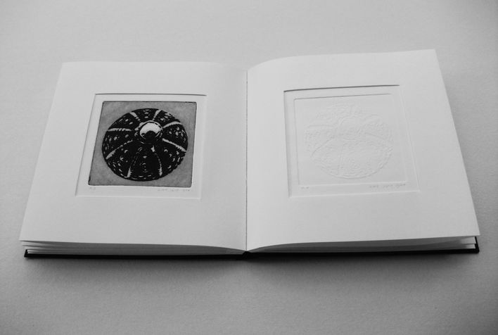 book A 9 engraving book - etching & embossed of  beads that left there