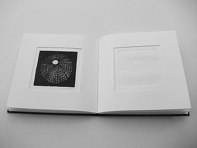book A 10 engraving book - etching & embossed of  beads that left there