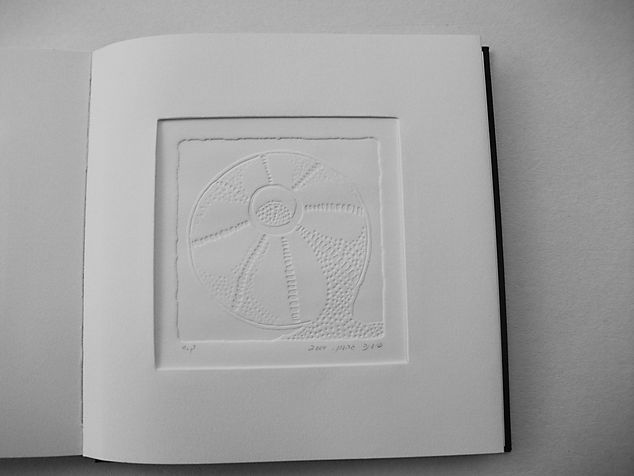 book A 6,1  engraving book - etching & embossed of  beads that left there