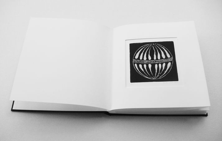 book A 12 engraving book - etching & embossed of  beads that left there