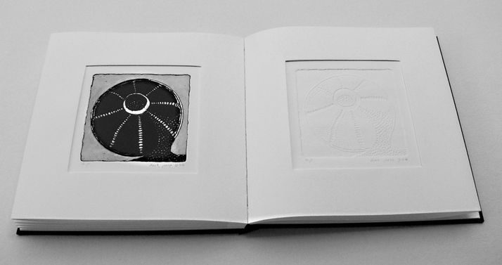 book A 8 engraving book - etching & embossed of  beads that left there