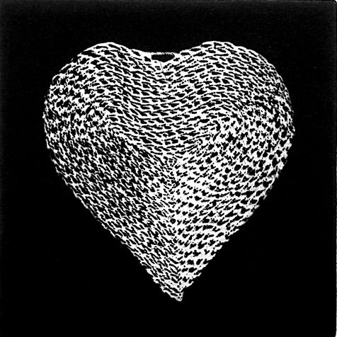 heart 2 photo etching,  2013, 15*15 cm