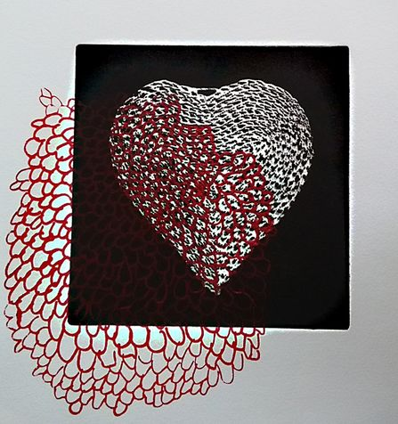 heart 26 photo etching & screen print, 2015, 25*25 cm