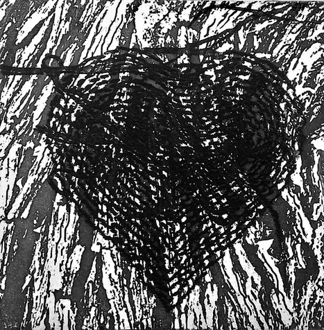 heart 4 photo etching,  2013, 15*15 cm