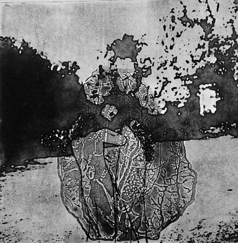 heart 7  photo etching, 2012, 25*25 cm