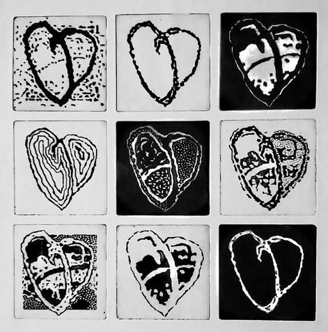 heart 32  photo etching, 2014, 32*32 cm