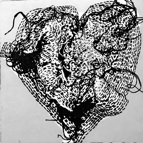 heart 9 photo etching, 2014, 30*30 cm