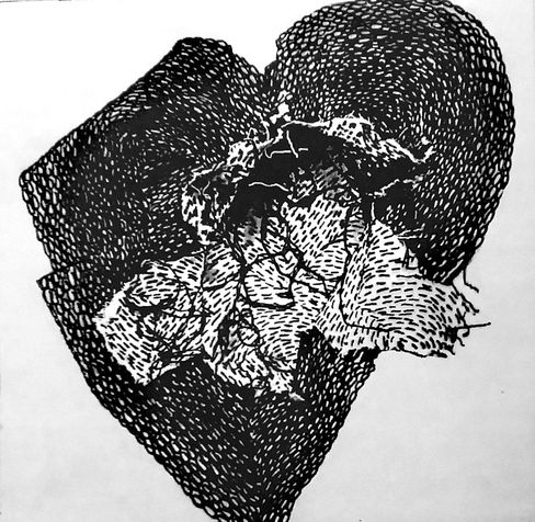 heart 8  photo etching, 2014, 30*30 cm