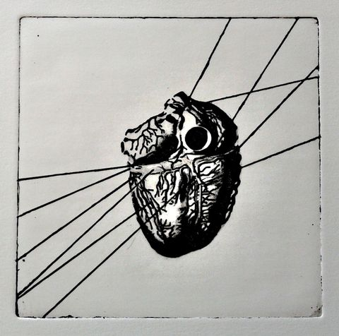 heart 33  photo etching, 2013, 15*15 cm