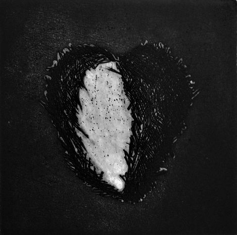 heart 36   etching, 2012, 15*15 cm