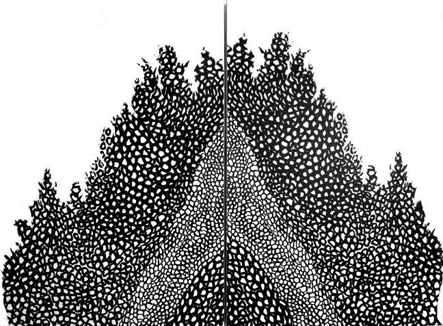 selected 1 ברוש ננסי, דיפטיכון, הדפס רשת על נייר, 2007,  100*140 ס