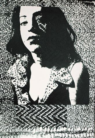 "selected 13 הדפס רשת על נייר, 2005, 100*70 ס\""מ"